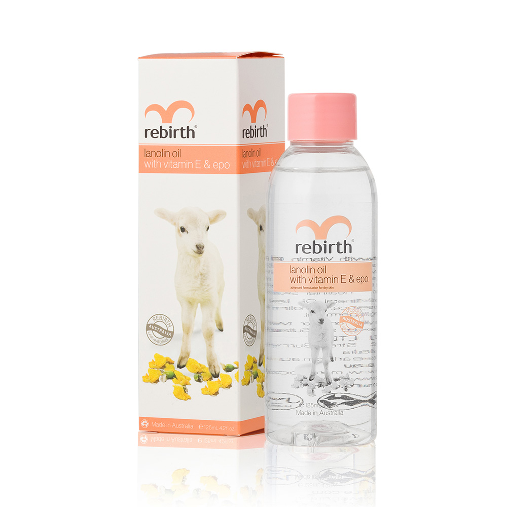 Rebirth Lanolin Oil with Vitamin E & EPO (RB13) 125mL